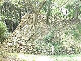 二重の稜線がある石垣