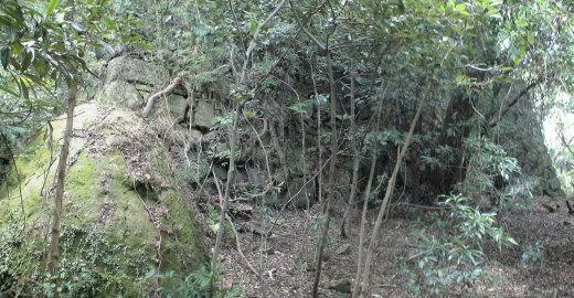 洲本城東部第一線の石垣 1